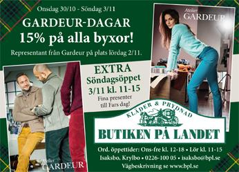 AT annons Gardeur